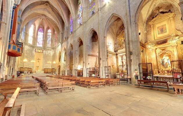 Interior de la basílica de Santa Maria del Pi, donde se celebrará el acto. / basilicadelpi,
