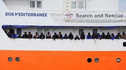 El barco Aquarius, de SOS Mediterranee. / SOS Mediterranee Twitter