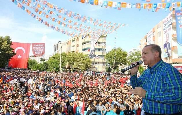 Erdogan en un mitin este junio. / Presidente Erdogan Facebook,