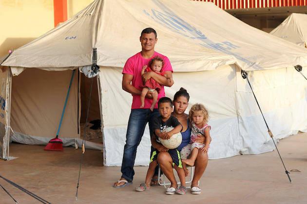 Familias venezolanas en el refugio Jardim Floresta en Boa Vista. / ©ACNUR, Reynesson Damasceno,