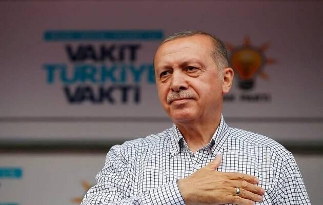 Erdogan, durante un mitin en la campaña. / Turkey President Erdogan Facebook,