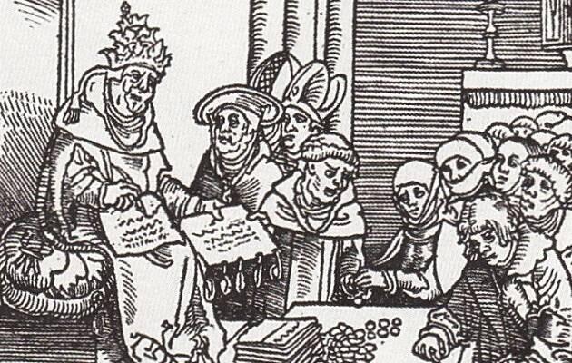 El Anticristo, un grabado de Lucas Cranach.,
