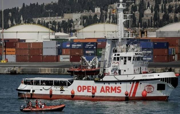 El Open Arms en su llegada al puerto de Barcelona. / Ayuntamiento de Barcelona,