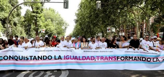 Cabecera de la Marcha del Orgullo Gay 2018 en Madrid,Orgullo Gay