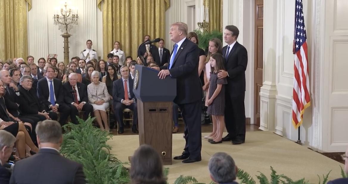 Trump, anunciando el nombramiento de Kavanaugh, este lunes. / Whitehouse.gov (CC 3.0)