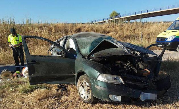 El accidente se produjo por la mañana en la Autovía A-43, a unos 20 kilómetros de Ciudad Real. / Lanza Digital,