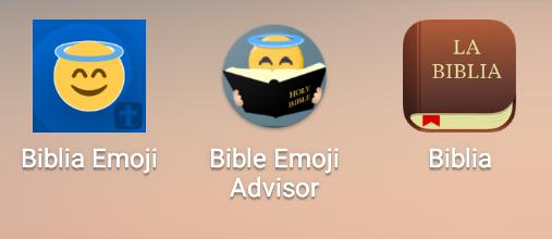 Algunas apps relacionan los emojis y la Biblia.