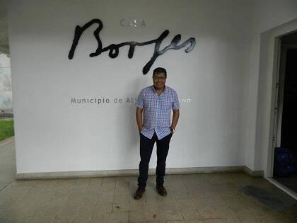 Roldán en la Casa Borges, donde se presentará el libro.