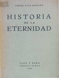 Portada de Historia de la eternidad, de Borges.