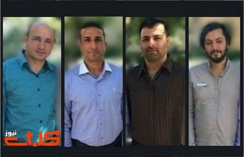 Los cuatro líderes de la Iglesia de Irán, no trinitaria, que han sido condenados a 10 años de prisión. / Mohabat News,