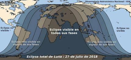 Eclipse lunar en todas sus fases. / Agencia SINC