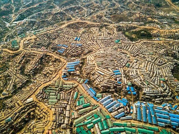 Bangladesh. Vista aérea del campo de refugiados Kutupalong. / © UNHCR, Roger Arnold.