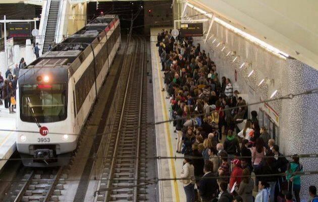 Estación de la Alameda, del metro de Valencia. / Twitter El mundo C. Valenciana,