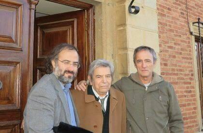 Alencart, Salvado y Lopes Pires, en Toral de los Guzmanes (foto de J. Alencar).