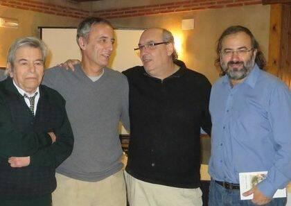 Salvado, Lopes Pires, Muñoz Quirós y Alencart (foto de Jacqueline Alencar) .
