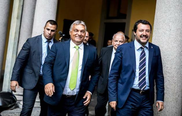 Viktor Orbán y Matteo Salvini durante su reunión en Milán. / Facebook Orbán Viktor ,