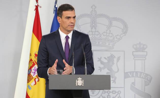 Pedro Sánchez, en rueda de prensa. / La Moncloa, Fernando Calvo,