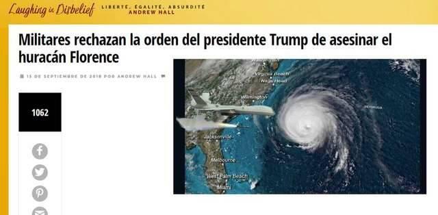 Captura de pantalla traducida por Google translator,fake news, noticias falsas
