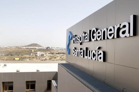 El Hospital Santa Lucía, en Murcia.,