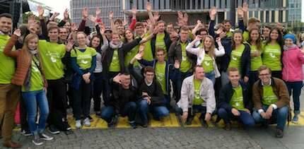 Muchos jóvenes participaron de la marcha. / Marsch für das Leben Facebook