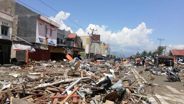 La devastación en Sulawesi después del terremoto y el tsunami. / Cruz Roja Indonesia,