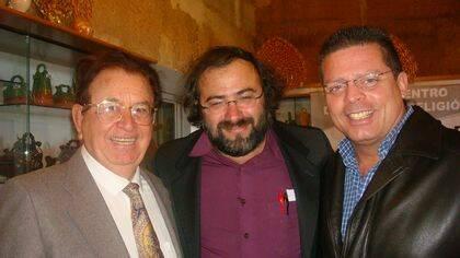 Monroy, Alencart y Estévez en Toral de los Guzmanes (foto de J. Alencar).