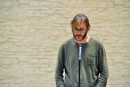 Jonatán Soriano dio lectura al discurso de Juan Antonio Monroy. / Jordi Torrents
