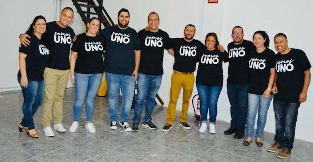 Participantes del encuentro Somos Uno en Fuerteventura, este 12 de octubre.,