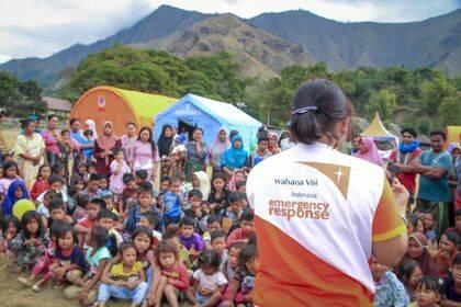 World Vision International ha coordinado a trabajadores de ayuda en Indonesia / World Vision