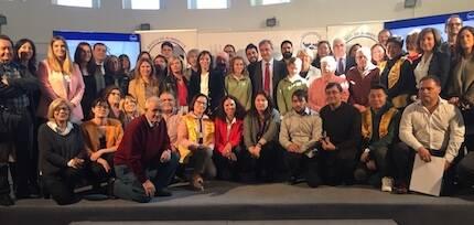 Foto de familia del acto realizado por el Banco de Alimentos. / FB Iglesia Las Águilas
