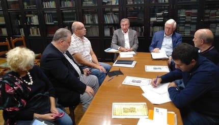 La reunión para la formación de una comisión organizadora y ejecutiva tuvo lugar este viernes 19 de octubre en Ourense. / Carnicero