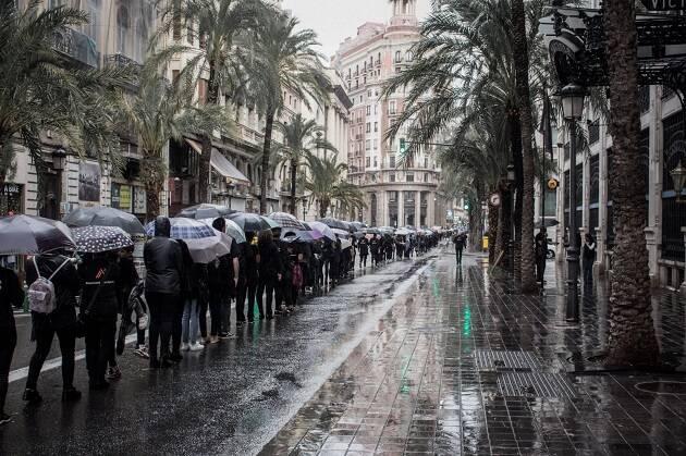 Caminando por Libertad en Valencia, el 20 de octubre de 2018. / Rebecca Paramio, thesecretkey.es,