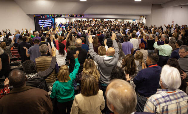 Momentos de alabanza durante el Congreso. / Juan José Marcos Ramos, Prensa FADE,
