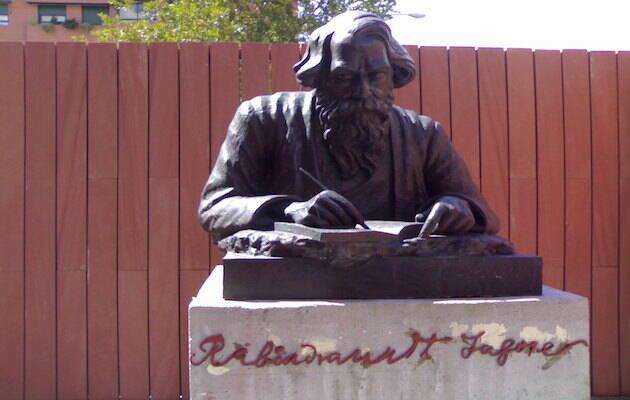 Monumento a Rabindranath Tagore en la Casa de la India de Valladolid. / Wikimedia Commons,