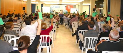 Votaciones durante la Asamblea. / UEBE