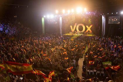 Un momento del acto celebrado por VOX en Vistalegre, el pasado 7 de octubre. / Facebook VOX