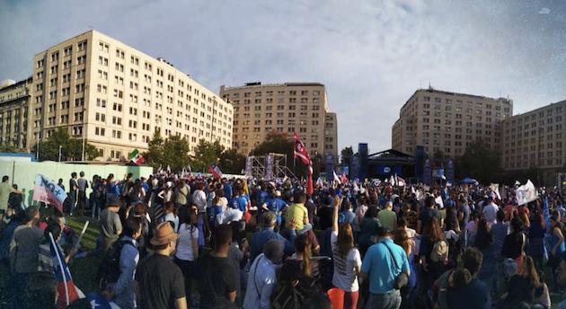 Miles de personas respondieron a la convocatoria de Marcha Por Jesús Chile. / MJ Chile, Twitter,