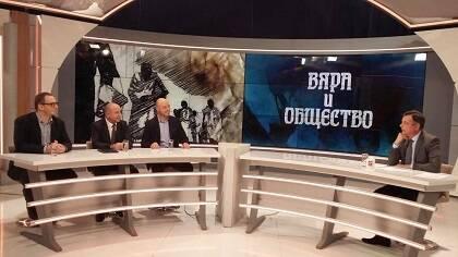 El pastor Bordjiev de la Alianza Evangélica Búlgara en la TV Nacional, el 19 de noviembre de 2018.
