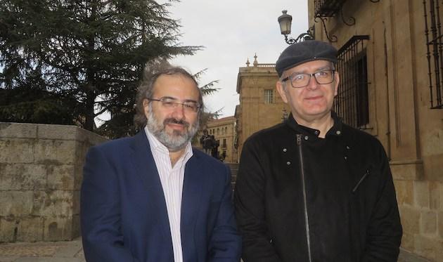 Alfredo Pérez Alencart y Juan Carlos Martín, dos de los conferenciantes de la XV edición de Los Poetas y Dios. / Jacqueline Alencar,