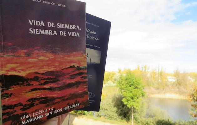 Portada de la Obra Poética de M. San León y Hondo Misterio. / J. Alencar,