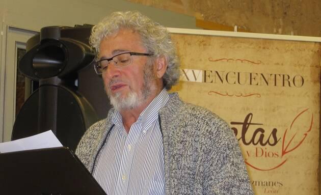 El poeta leonés Leopoldo L. Samprón (foto de Jacqueline Alencar),