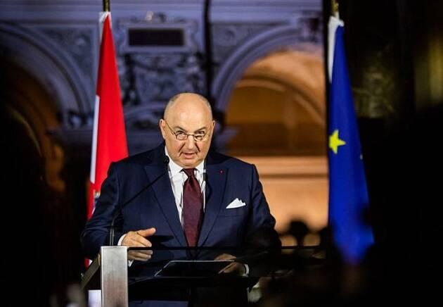 Moshe Kantor, presidente de la entidad judía, durante una conferencia en Viena. / EJC,