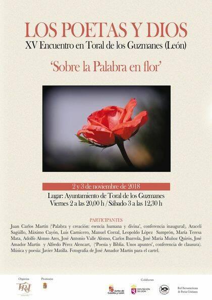 Cartel del XV Encuentro Sobre la Palabra en flor.