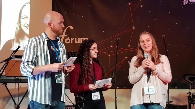 Estudiantes y graduados compartieron la misión en la universidad e institutos durante Fórum GBU 2018. / Foto: Carlos Fumero Jensen,