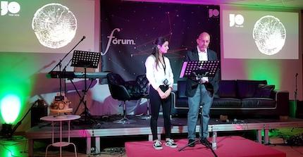 Laura Pérez y Curro Royo, maestros de ceremonia. / Carlos Fumero