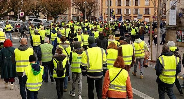 El movimiento de los chalecos amarillos ha organizado protestas a lo largo de Francia. / Thomas Bresson, Wikimedia Commons,