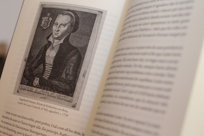 Una imagen de Katharina Von Bora en el interior del libro. / Jonatán Soriano