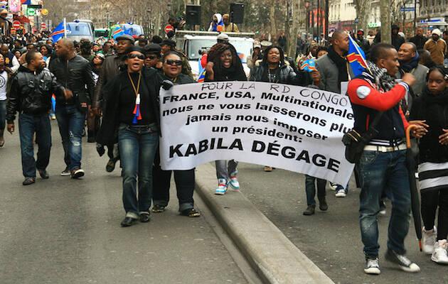 Una protesta contra Joseph Kabila en Paris, en 2012. / Jelena Prtoric, Flickr CC,