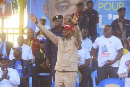 El candidato de Kabila, Emmanuel Ramazani Shadary en un acto de campaña. / Twitter E. Ramazani Shadary