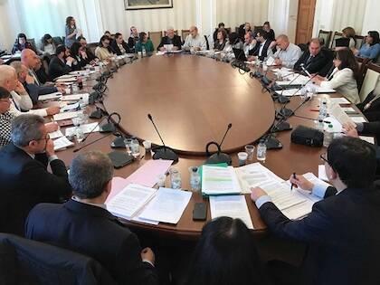 La reunión de este miércoles del Comité del Parlamento para la Religión y los Derechos Humanos. / Vlady Raichinov